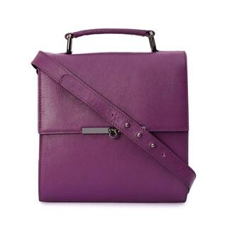 Phive Rivers Women's Leather Crossbody Bag (Purple)