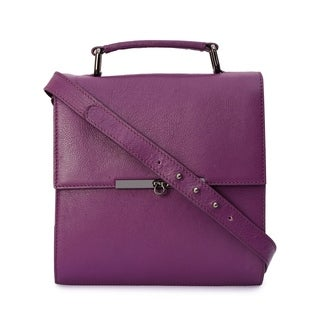 Phive Rivers Women's Leather Crossbody Bag (Purple) - One size