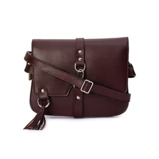 Phive Rivers Women's Leather Crossbody Bag (Wine)|https://ak1.ostkcdn.com/images/products/17430238/P23664698.jpg?impolicy=medium