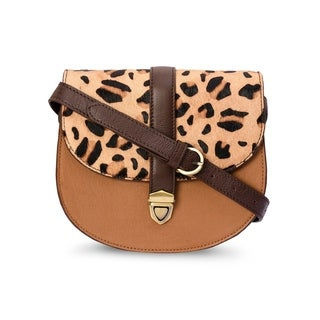 Handmade Phive Rivers Women's Tan Leather Animal Pattern Crossbody (Italy)