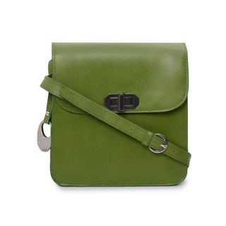 Phive Rivers Women's Leather Crossbody Bag (Green)