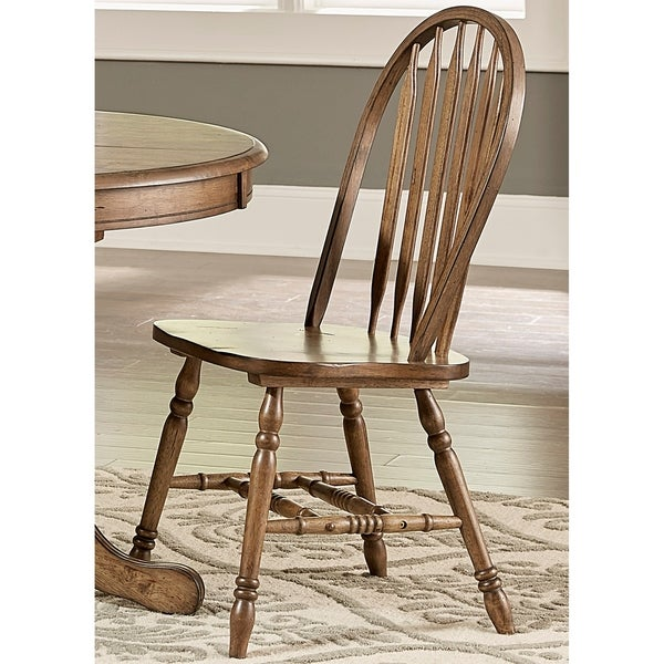 Antique Windsor Chairs Dining: Carolina Crossing Antique Honey Finish Windsor Dining
