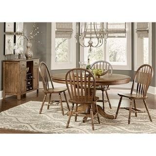 Carolina Crossing Antique Honey Finish Windsor Dining  Chair (Set of 2)