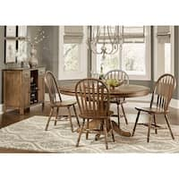 Carolina Crossing Antique Honey Finish Windsor Dining  Chair (Set of 2)