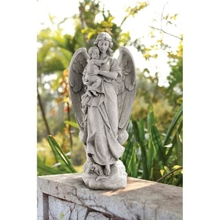 22 inch Standing Angel With Baby