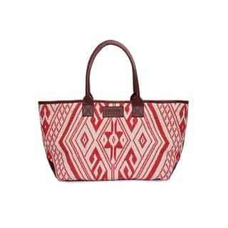Women's Jacquard Fabric Tote Bag (Red) - RED https://ak1.ostkcdn.com/images/products/17430605/P23664958.jpg?impolicy=medium