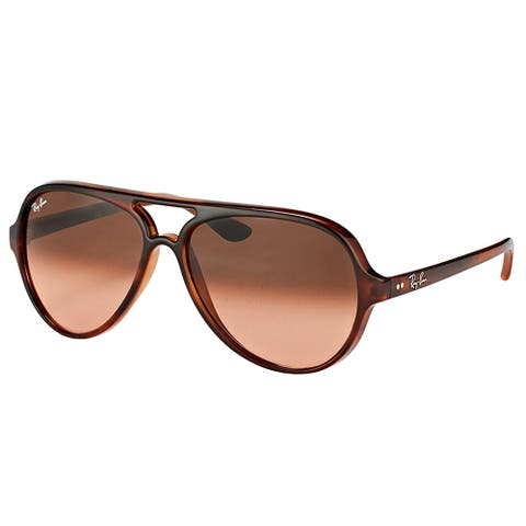 Ray-Ban Aviator RB 4125 820/A5 Unisex Stripped Havana Frame Pink Gradient Lens Sunglasses