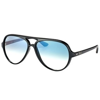 6ae94ab91fd67 ... sweden ray ban aviator rb 4125 601 3f unisex black frame blue gradient  lens sunglasses ae5b6 new arrivals ray ban rb4125 cats 5000 ...