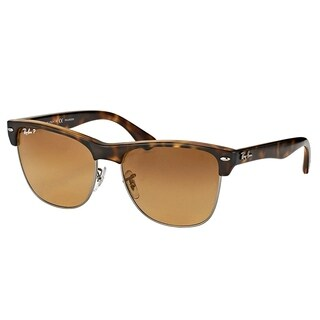 Ray-Ban Square RB 4175 878/M2 Unisex Havana Silver Frame Grey Gradient Polarized Lens Sunglasses