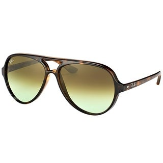 Ray-Ban Aviator RB 4125 710/A6 Unisex Havana Frame Green Gradient Lens Sunglasses