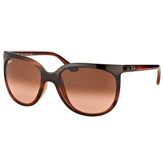Ray-Ban Cat Eye RB 4126 820/A5 Womens Stripped Havana Frame Pink Gradient Lens Sunglasses