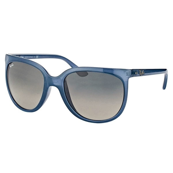 7554362c1ec62 Ray-Ban Cat Eye RB 4126 630371 Womens Trasparent Light Blue Frame Grey  Gradient Lens