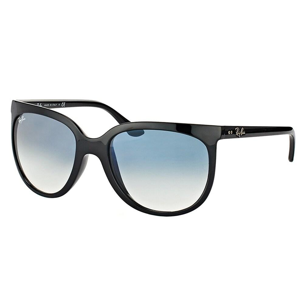 Ray-Ban Cat Eye RB 4126 601/3F Womens Black Frame Blue Gr...