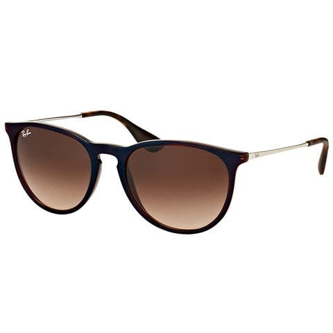 Ray-Ban Round RB 4171 631513 Unisex Blue Brown Frame Brown Gradient Lens Sunglasses