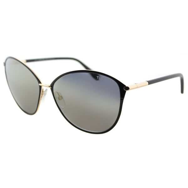 Tom Ford Cat-Eye TF 320 28C Womens Brown Rose Gold Frame Silver Mirror Lens e6f9c45a8f