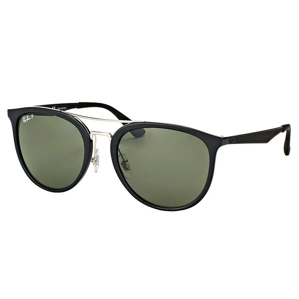 2a57dd5a8f9 Ray-Ban Square RB 4285 601 9A Unisex Black Frame Green Polarized Lens  Sunglasses