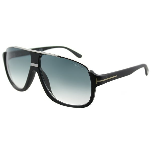 6f875d7fff9 Tom Ford Aviator TF 335 02W Unisex Matte Black Frame Blue Gradient Lens  Sunglasses