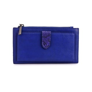 Women's Leather Wallet (Royal Blue)