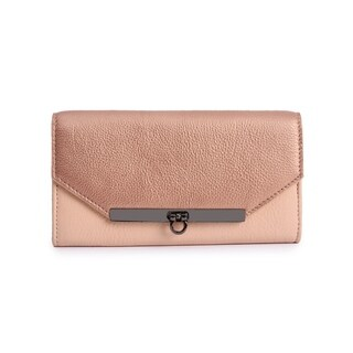 Women's Leather Wallet (Light Pink) - One size