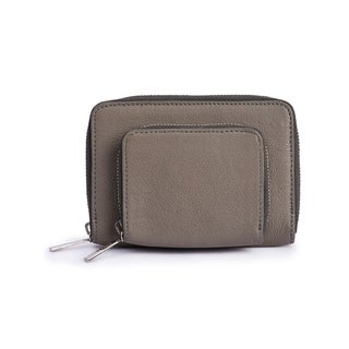 Women's Leather Wallet (Grey) - One size