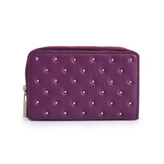Women's Leather Wallet (Purple)