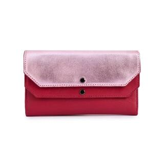 Women's Leather Wallet (Pink)|https://ak1.ostkcdn.com/images/products/17431732/P23665976.jpg?impolicy=medium