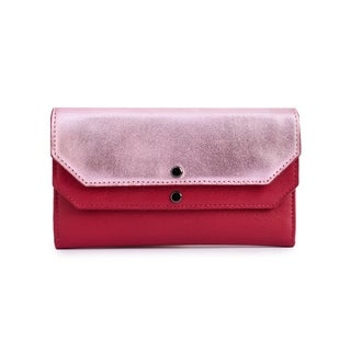 Women's Leather Wallet (Pink)