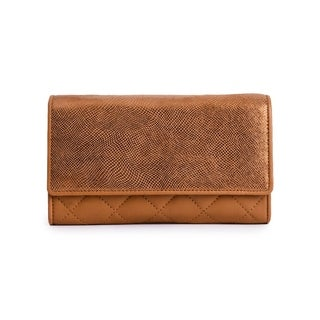 Women's Leather Wallet (Tan)