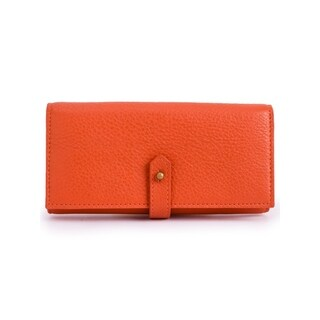 Women's Leather Wallet (Orange)