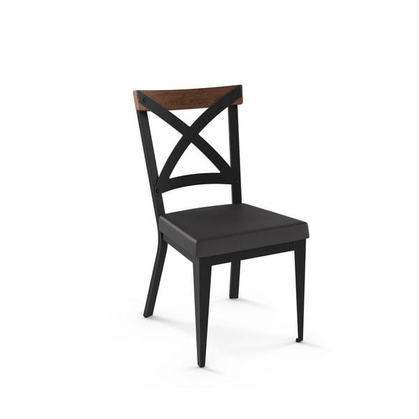Carbon Loft Prescoft Metal Chair with Wooden Accent