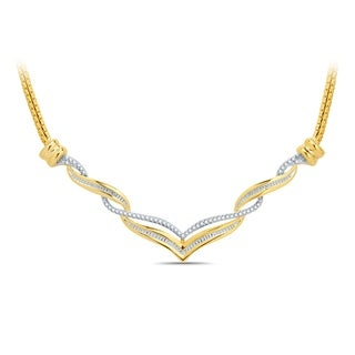 1/3ct T.W. Two-Tone over Brass Twisted fashion necklace (I-J,I3) - n/a