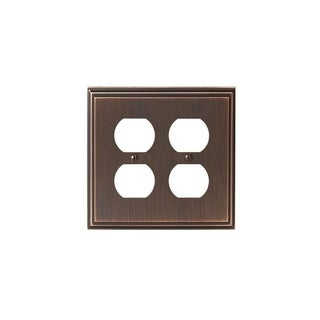 Mulholland 2 Receptacle Oil-Rubbed Bronze Wall Plate