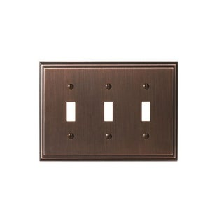Mulholland 3 Toggle Oil-Rubbed Bronze Wall Plate