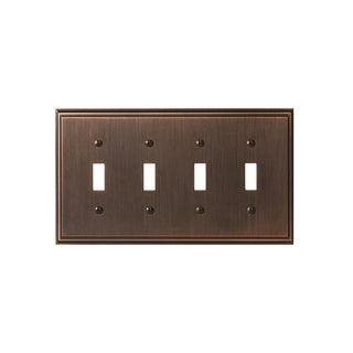 Mulholland 4 Toggle Oil-Rubbed Bronze Wall Plate