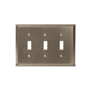 Mulholland 3 Toggle Satin Nickel Wall Plate