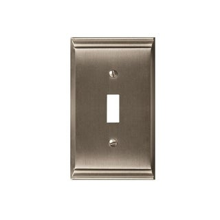 Candler 1 Toggle Satin Nickel Wall Plate