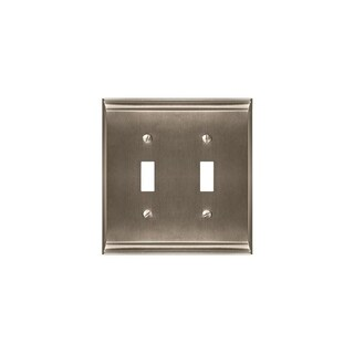 Candler 2 Toggle Satin Nickel Wall Plate