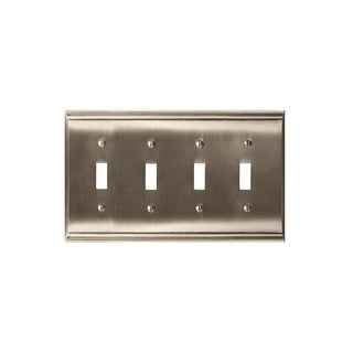 Candler 4 Toggle Satin Nickel Wall Plate