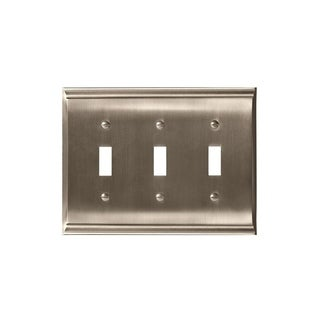 Candler 3 Toggle Satin Nickel Wall Plate