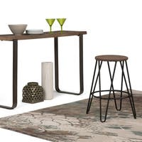 WYNDENHALL Kendall 24 inch Counter Height Stool with Wood Seat
