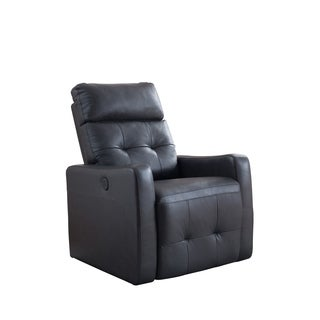 AC Pacific Elsa Contemporary Living Room Power Recliner Leather Chair