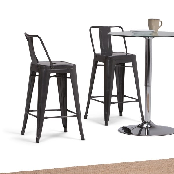 Wyndenhall Josephine 24 Inch Metal Counter Height Stool