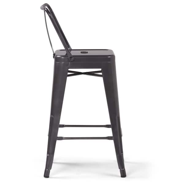 Superb Shop Wyndenhall Josephine Industrial Metal 24 Inch Counter Uwap Interior Chair Design Uwaporg
