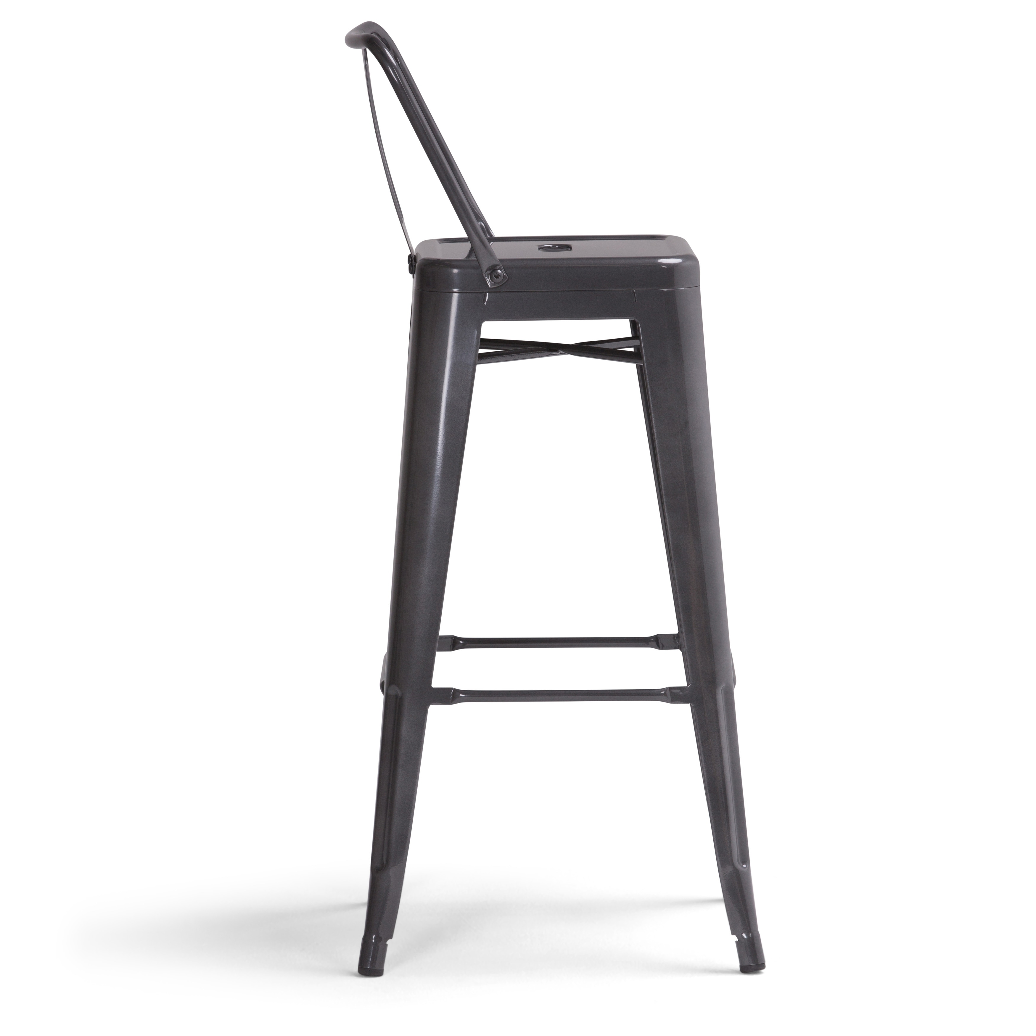 Wyndenhall Josephine 30 Inch Metal Bar Height Stool Set