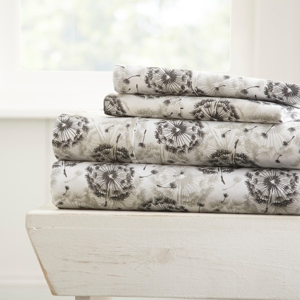 Incroyable Shop Merit Linens Make A Wish Pattern 4 Piece Bed Sheet Set   On Sale    Free Shipping On Orders Over $45   Overstock   17431960