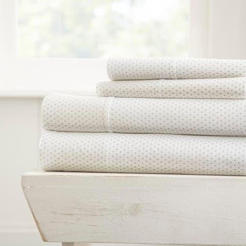 Merit Linens Premium Ultra Soft 4 Piece Stippled Pattern Bed Sheet Set
