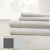 Merit Linens Premium Ultra Soft 4 Piece Stippled Pattern Bed Sheet Set