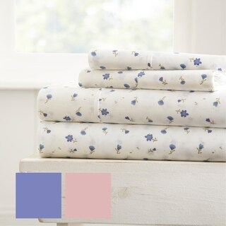 Merit Linens Premium Ultra Soft Floral Pattern 4 Piece Bed Sheet Set (More options available)