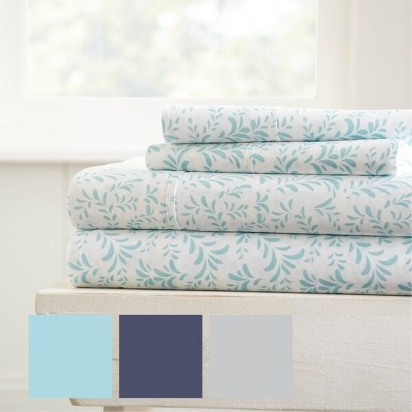 merit linens burst of vines pattern 4 piece bed sheets set bed sheets pattern26 sheets