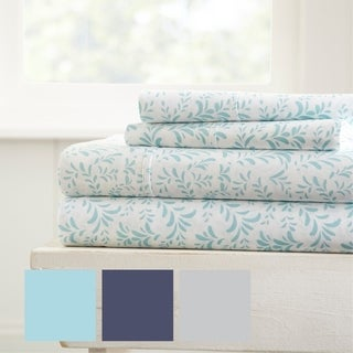 Merit Linens Burst of Vines Pattern 4 Piece Bed Sheets Set